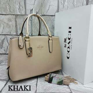Coach Tote Bag Khaki Color