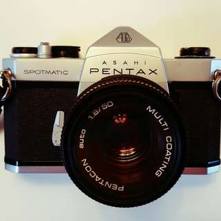 Pentax Spotmatic + Pentacon Auto 50/1.8 共兩件一套