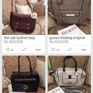 guess, the sak, hush puppies original woman bags