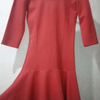 FORMAL RED DRESS (SLIGHTLY USED)