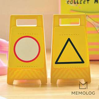 Warning Sign Memo Pad Sticky Notes