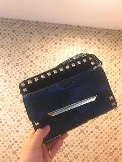 🚚 🌟包包出清🌟Aldo藍色蛇紋包包