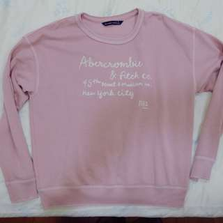 A&F粉色長袖上衣