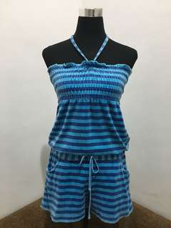 Blue Stripes Romper
