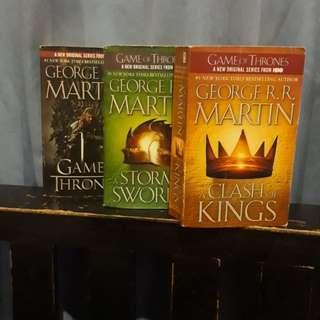 Preloved Novel: Game of Thrones Set (FREE ONGKIR JAKARTA-DEPOK-BEKASI)