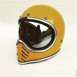 Custom Vintage Helmet Vespa Cafe Racer