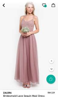 ZALORA Dinner/Bridesmaid/Prom Fuchsia Dress