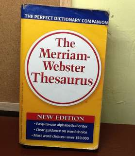 The Merriam-Webster Thesaurus New Edition
