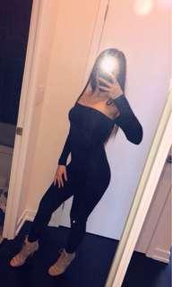 FashionNova Off Shoulder Jumpsuit