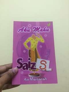 Novel Aku Mahu Saiz S