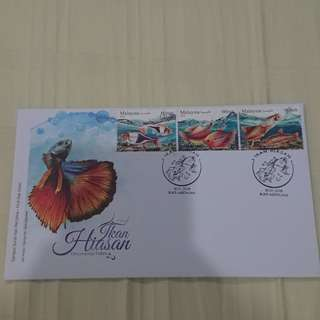 Ikan hiasan first day cover 2018