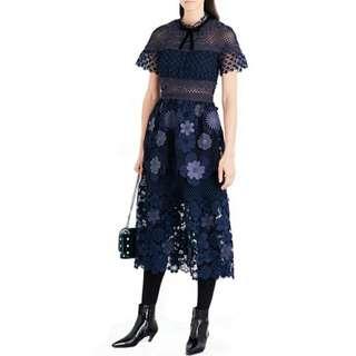 Runway Self Portrait 3D Flower Midi Dress (sale)