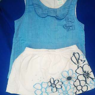 TINY TUMMIES TOP & SKIRT SET