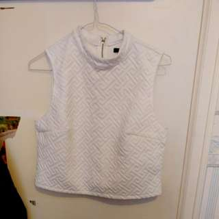 NWOT Forever21 sleeveless crop top size S
