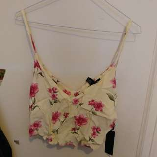 NWT Forever21 Floral Crop Top size S