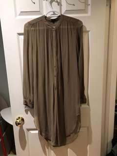 Aritzia silk tunic