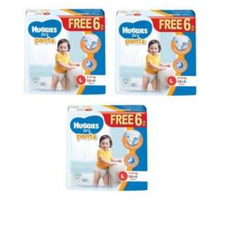 Huggies L50+4 Dry Pants Diapers super jumbo Pack (3 Packs) #nogstday