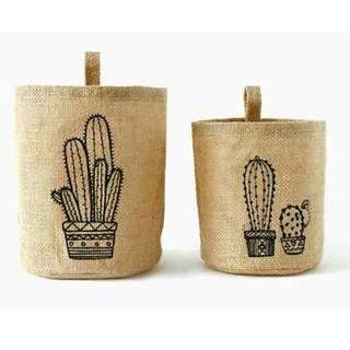 Woven Storage/Planter Bag