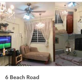 2  rooms flat at Beach Road for sale