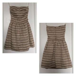 BEBE Strapless Fit & Flare Dress (BNWT)