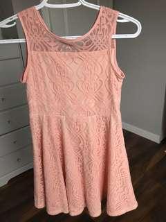 Size 10 Girls Pink lace dress