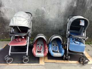 Baby 1st stroller with car seat carrier. 😊😊😊
