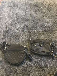 Small black cross body bags