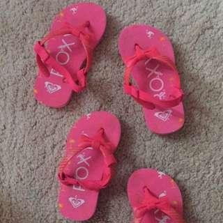 roxy beach sandals 12m