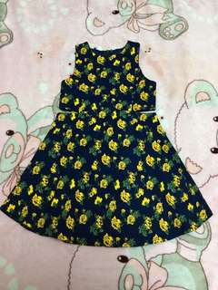 Floral sexy toddler kids dress