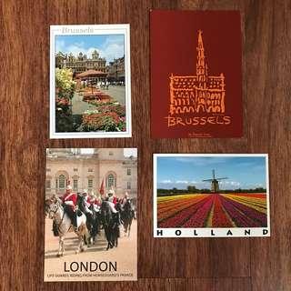 Europe Postcards