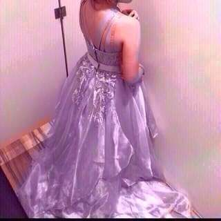 silver grey gown for rent