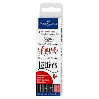 Faber Castell 4 Pitt Artist Pen Hand Lettering Set