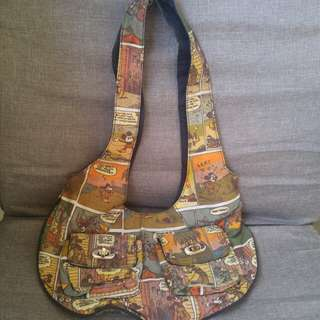 Disney Canvass Bag (comic print, with two pockets)