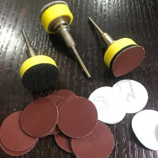 Sanding 25mm Disc for Dremel ( With Self adhesive Velcro)