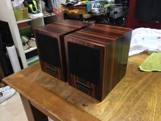 Full range speakers in ebony wood finish