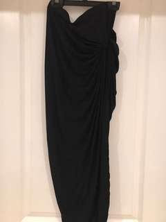 Forever21 Black Slit Skirt