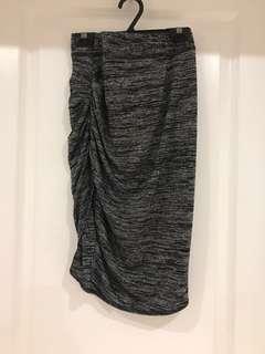 ARITZIA Ruched Slit Skirt