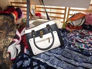 Charming Charlie black and white purse