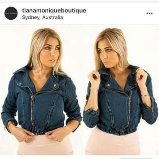 Women's denim bomber jacket - sizes 6, 8 & 10AUS