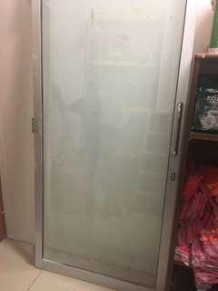 pintu Kaca Aluminium/ Alluminium glass door