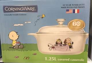 Snoopy Corningware casserole pot Ltd edition