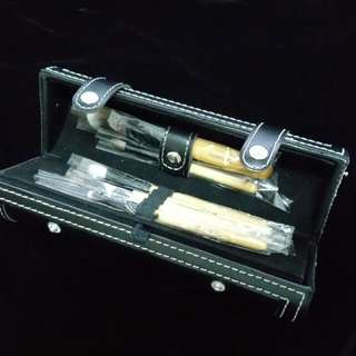 🚚 Brush set, 9pcs, makeup set with mirror