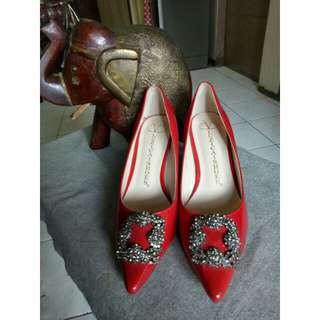"""Red shoes """"sale"""""""