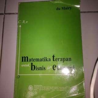 Buku Kuliah - Matematika terapan untuk bisnis dan ekonomi#BONUSMARET