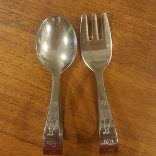 Daiso Fork and Spoon Set