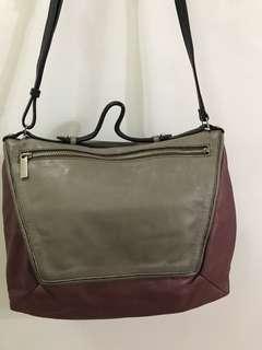 Authentic Rabeanco Alps Two tone Leather Satchel Bag