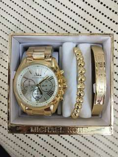 Michael kors watch and bangles set