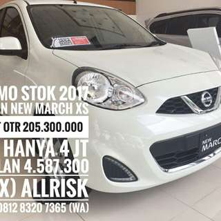 PROMO TDP 4 JT NISSAN MARCH 1.2 XS AT STOK 2017