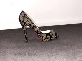 "Christian Louboutin ""Very Prive Arabesque"" platform 120mm 37 1/2"