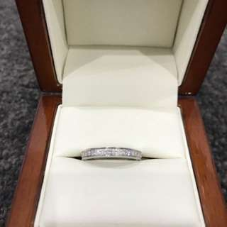 Gold wedding band diamond ring